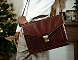 Leather Briefcase - The Magus (Dark Brown)